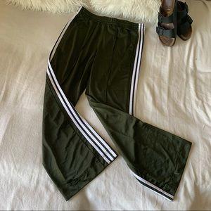 Adidas Y2K Wide Leg Flared 3 Stripe Track Pants